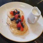 Breakfast Pancakes with Berries & Yoghurt
